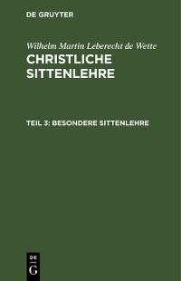 Cover Besondere Sittenlehre