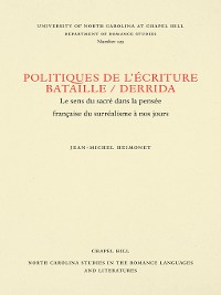 Cover Politiques de l'écriture, Bataille / Derrida
