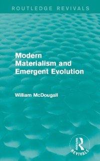 Cover Modern Materialism and Emergent Evolution
