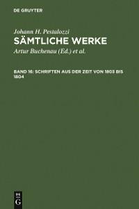 Cover Schriften aus der Zeit von 1803 bis 1804