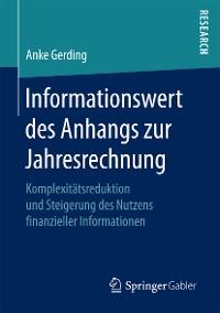 Cover Informationswert des Anhangs zur Jahresrechnung