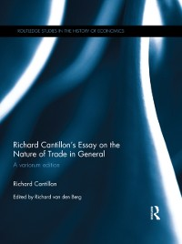 Cover Richard Cantillon's Essay on the Nature of Trade in General