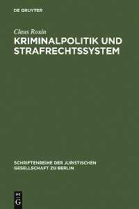 Cover Kriminalpolitik und Strafrechtssystem