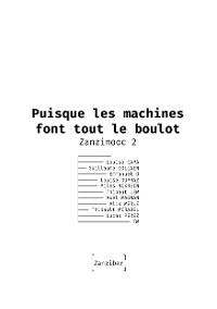Cover Puisque les machines font tout le boulot