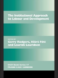 Cover Institutional Approach to Labour and Development