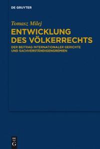 Cover Entwicklung des Völkerrechts
