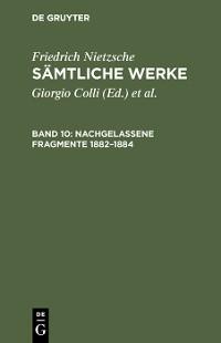 Cover Nachgelassene Fragmente 1882–1884