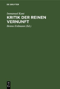 Cover Kritik der reinen Vernunft
