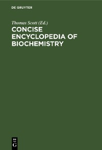 Cover Concise encyclopedia of biochemistry