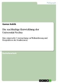 Cover Die nachhaltige Entwicklung der Universität Vechta