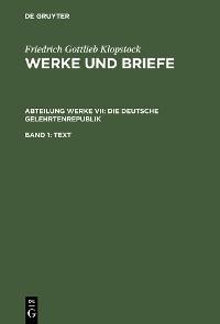 Cover Die deutsche Gelehrtenrepublik