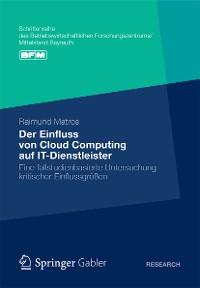 Cover Der Einfluss von Cloud Computing auf IT-Dienstleister