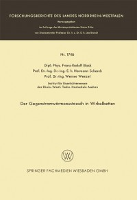 Cover Der Gegenstromwarmeaustausch in Wirbelbetten