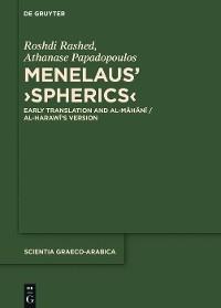 Cover Menelaus' ›Spherics‹