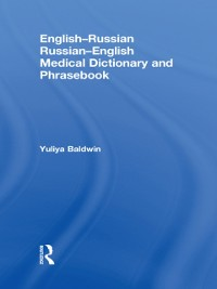 Cover English-Russian Russian-English Medical Dictionary and Phrasebook