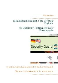 Cover Sachkundeprüfung nach § 34a GewO auf Englisch - Die wichtigsten Erklärungen in der Muttersprache