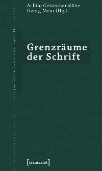 Cover Grenzräume der Schrift