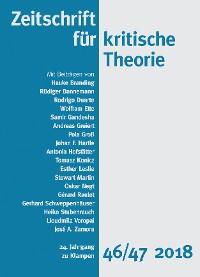 Cover Zeitschrift für kritische Theorie