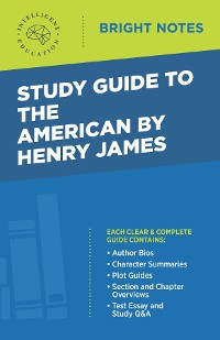 Cover Study Guide to The American by Henry James