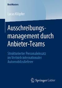 Cover Ausschreibungsmanagement durch Anbieter-Teams