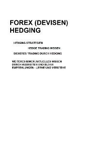 Cover Forex (Devisen) Hedging