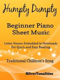 Cover Humpty Dumpty Beginner Piano Sheet Music