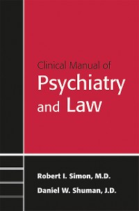 Cover Clinical Manual of Psychiatry and Law
