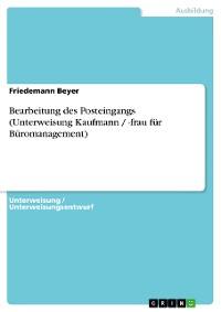 Cover Bearbeitung des Posteingangs (Unterweisung Kaufmann / -frau für Büromanagement)