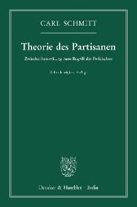 Cover Theorie des Partisanen.