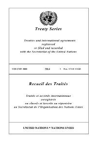 Cover Treaty Series 3000/Recueil des Traités 3000