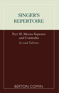 Cover The Singer's Repertoire, Part II