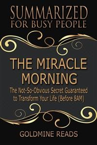 Cover The Miracle Morning  - Summarized for Busy People