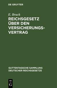 Cover Reichsgesetz über den Versicherungsvertrag