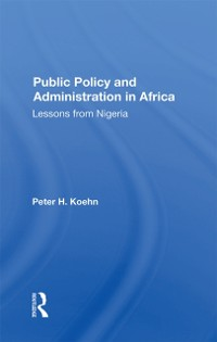 Cover Public Policy And Administration In Africa