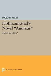 Cover Hofmannsthal's Novel Andreas