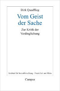 Cover Vom Geist der Sache