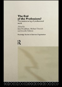 Cover End of the Professions?