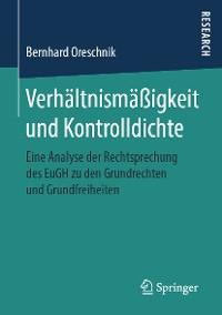 Cover Verhältnismäßigkeit und Kontrolldichte