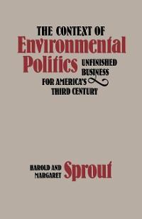 Cover The Context of Environmental Politics