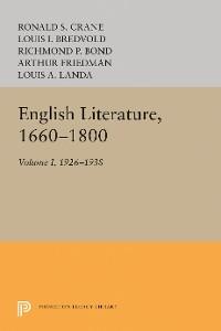 Cover English Literature, Volume 1