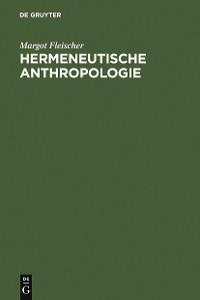 Cover Hermeneutische Anthropologie