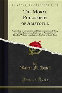 Cover The Moral Philosophy of Aristotle