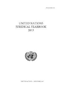 Cover United Nations Juridical Yearbook 2013