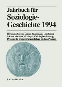 Cover Jahrbuch fur Soziologiegeschichte 1994