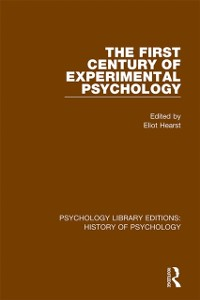 Cover First Century of Experimental Psychology