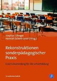 Cover Rekonstruktionen sonderpädagogischer Praxis