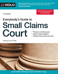 Cover Everybody's Guide to Small Claims Court
