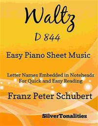 Cover Waltz D 844 Easy Piano Sheet Music