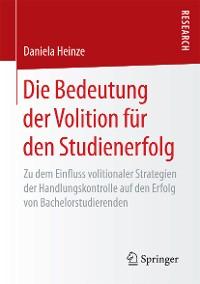 Cover Die Bedeutung der Volition für den Studienerfolg