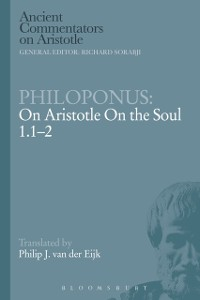 Cover Philoponus: On Aristotle On the Soul 1.1-2